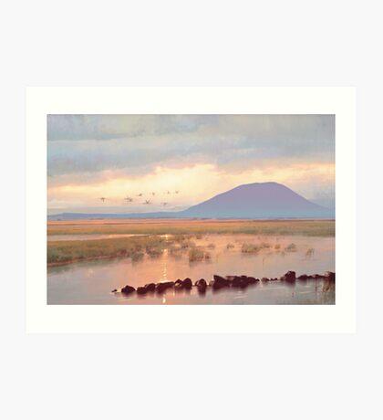Nephin Dawn, Lough Conn, County Mayo Art Print
