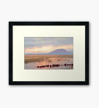 Nephin Dawn, Lough Conn, County Mayo Framed Print