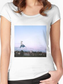 Latios blue sky Women's Fitted Scoop T-Shirt