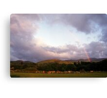 Rainbow in Llanfairfechan Canvas Print