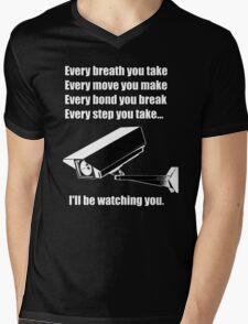 I'll be watching you Mens V-Neck T-Shirt