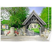 The Lych Gate, Repton Churchyard Poster