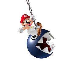 Mario - Chomping Ball Photographic Print