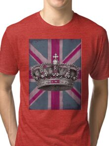 Union Jack and Crown Tri-blend T-Shirt