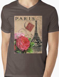 Paris II Mens V-Neck T-Shirt