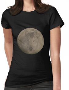 Wolf Moon 1 Womens Fitted T-Shirt