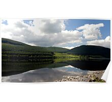 Reflections in St Mary's Loch, near Peebles Poster