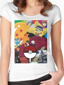 Anime Mashup Women's Fitted Scoop T-Shirt
