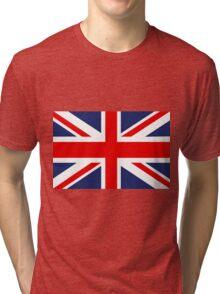 Union Jack Flag - United Kingdom Tri-blend T-Shirt