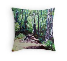 'Sun Shower on the Glen Burney Trail' Throw Pillow