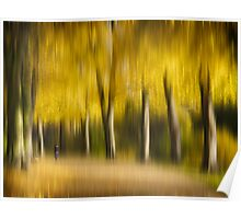 Autumn Avenue impression Poster