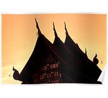 Wat Silhouette Poster