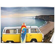 Surfer Van Poster