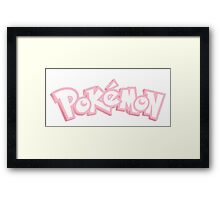 Pink Pokemon Framed Print