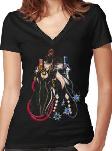 Bayonetta - Umbra Witch - A Women's Fitted V-Neck T-Shirt