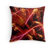 Firework in Abstract Throw Pillow