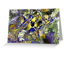 Three Layer Blender #5:  Cheap Sunglasses abstract (UF0368) Greeting Card