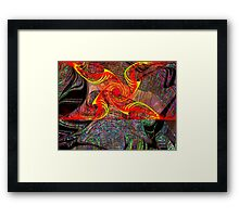 Three Layer Blender #6:  Gnarly Disc Julian abstract (UF0372) Framed Print