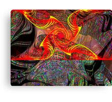 Three Layer Blender #6:  Gnarly Disc Julian abstract (UF0372) Canvas Print