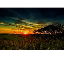 Sunset at Butts Brow, Eastbourne, East Sussex Photographic Print