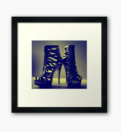inked and cream  Framed Print