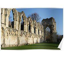 Church ruins, York, Yorkshire Poster