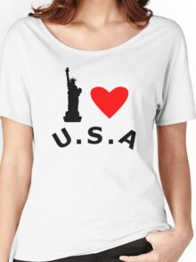 American Statue of Liberty Women's Relaxed Fit T-Shirt