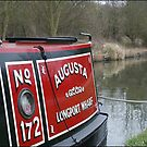 Red Narrowboat by Mike Baker