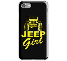 Jeep Girl Yellow iPhone Case/Skin