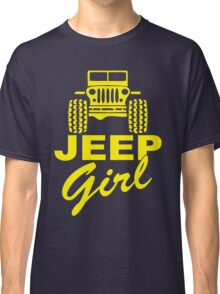 Jeep Girl Yellow Classic T-Shirt