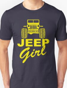 Jeep Girl Yellow Unisex T-Shirt