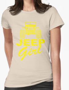 Jeep Girl Yellow Womens Fitted T-Shirt
