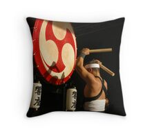 Traditional Japanese Drummer Throw Pillow