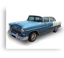 Blue Cadillac Canvas Print