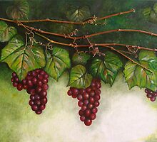 Grapevine Oil Painting by Manuel Fernandes
