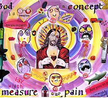 'God is a concept by which we measure our pain'  by MissBehaving