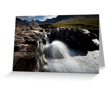 River Brittle and the Black Cuillins Greeting Card
