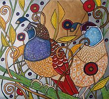 Two Quail by Lynnette Shelley