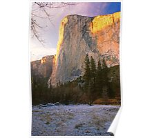 EL CAPITAN,DUSK,WINTER Poster