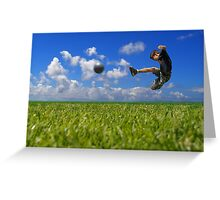 Soccer Player Greeting Card