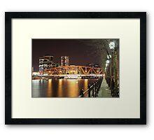 Salford Quays Swinging Bridge Framed Print