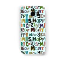 palest aqua merry christmas and happy new year Samsung Galaxy Case/Skin