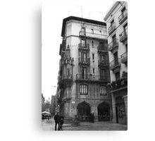 Barcelona Plaza Canvas Print