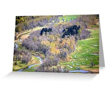 """""""One view from Crown Point, Oregon"""" Greeting Card"""