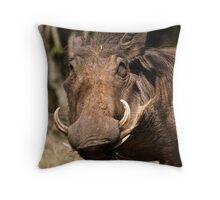 Warthog munch - Masai Mara, Kenya Throw Pillow