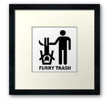 Furry Trash Framed Print