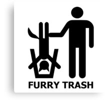 Furry Trash Canvas Print