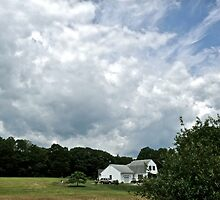 Summer Clouds Over A Connecticut Farmhouse - CT Series *featured by Jack McCabe