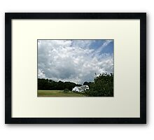 Summer Clouds Over A Connecticut Farmhouse - CT Series *featured Framed Print
