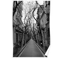 Empty Barcelona Street Poster